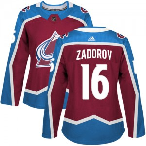 Adidas Nikita Zadorov Colorado Avalanche Women's Authentic Burgundy Home Jersey - Red