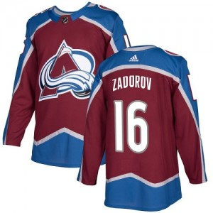 Adidas Nikita Zadorov Colorado Avalanche Youth Authentic Burgundy Home Jersey - Red