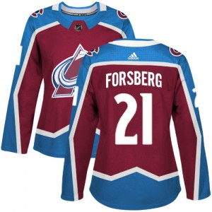 Adidas Peter Forsberg Colorado Avalanche Women's Authentic Burgundy Home Jersey - Red