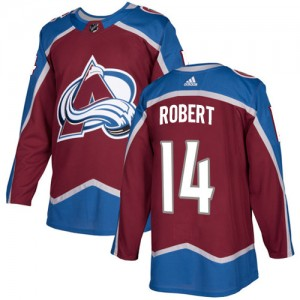 Adidas Rene Robert Colorado Avalanche Youth Authentic Burgundy Home Jersey - Red