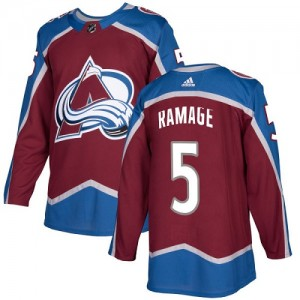 Adidas Rob Ramage Colorado Avalanche Youth Authentic Burgundy Home Jersey - Red