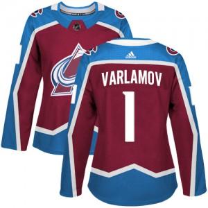 Adidas Semyon Varlamov Colorado Avalanche Women's Authentic Burgundy Home Jersey - Red