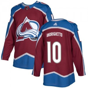 Adidas Sven Andrighetto Colorado Avalanche Youth Authentic Burgundy Home Jersey - Red