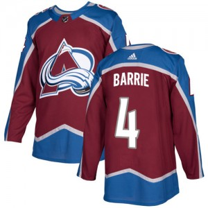 Adidas Tyson Barrie Colorado Avalanche Youth Authentic Burgundy Home Jersey - Red