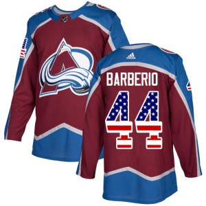 Adidas Mark Barberio Colorado Avalanche Men's Authentic Burgundy USA Flag Fashion Jersey - Red
