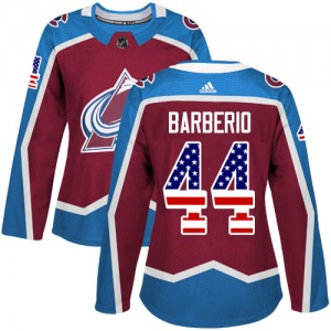 Adidas Mark Barberio Colorado Avalanche Women's Authentic Burgundy USA Flag Fashion Jersey - Red