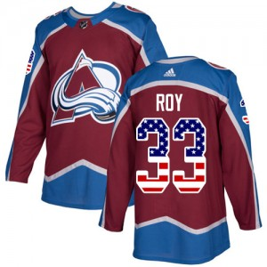 Adidas Patrick Roy Colorado Avalanche Youth Authentic Burgundy USA Flag Fashion Jersey - Red
