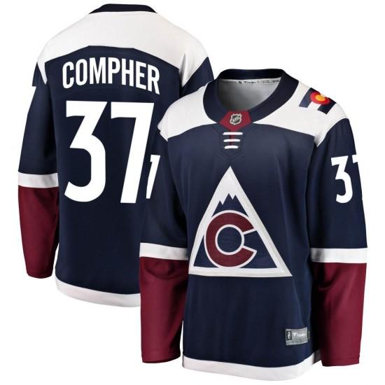 Fanatics Branded J.t. Compher Colorado Avalanche Youth Breakaway Alternate Jersey - Navy