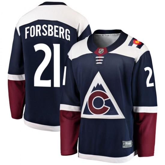 Fanatics Branded Peter Forsberg Colorado Avalanche Youth Breakaway Alternate Jersey - Navy
