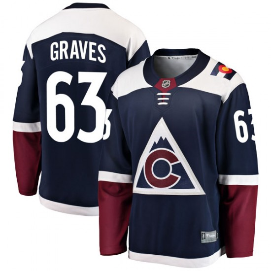 Fanatics Branded Ryan Graves Colorado Avalanche Youth Breakaway Alternate Jersey - Navy