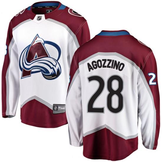 Fanatics Branded Andrew Agozzino Colorado Avalanche Youth Breakaway Away Jersey - White