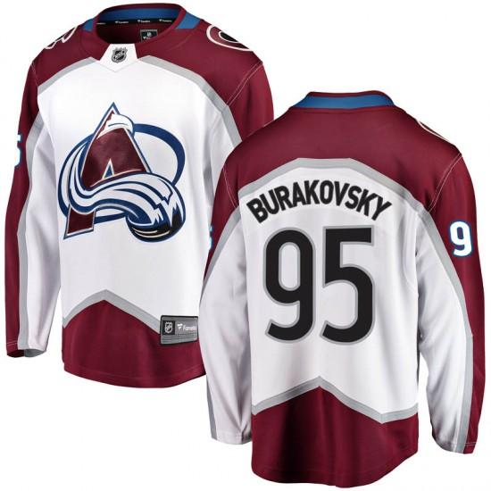 Fanatics Branded Andre Burakovsky Colorado Avalanche Youth Breakaway Away Jersey - White