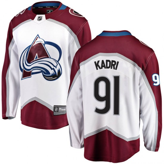 Fanatics Branded Nazem Kadri Colorado Avalanche Youth Breakaway Away Jersey - White