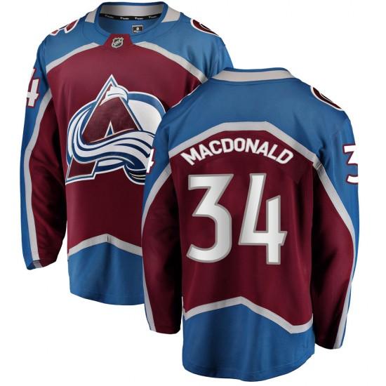 Fanatics Branded Youth Jacob MacDonald Colorado Avalanche Youth Breakaway Maroon Home Jersey