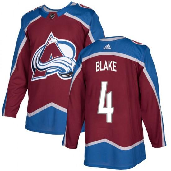 Adidas Men's Rob Blake Colorado Avalanche Men's Authentic Burgundy Home Jersey
