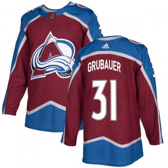 Adidas Men's Philipp Grubauer Colorado Avalanche Men's Authentic Burgundy Home Jersey