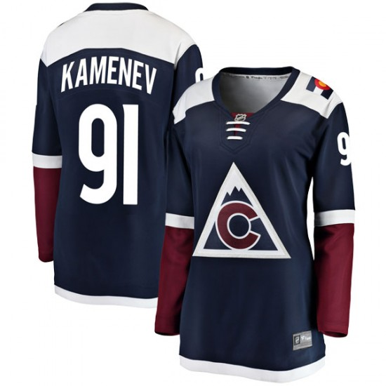 Fanatics Branded Vladislav Kamenev Colorado Avalanche Women's Breakaway Alternate Jersey - Navy