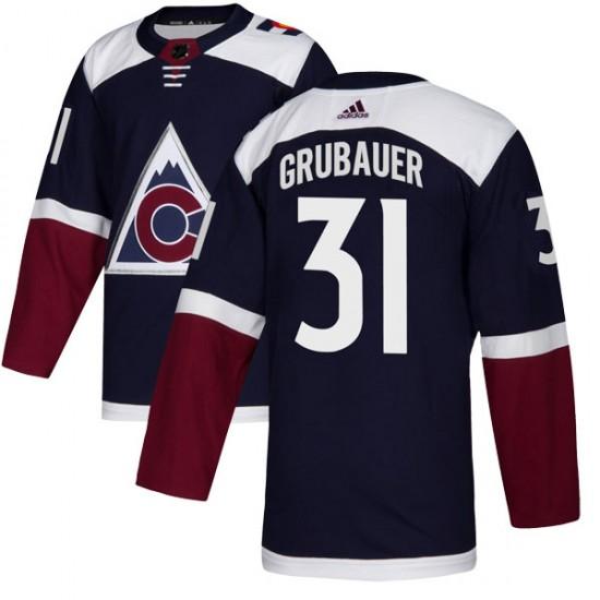 Adidas Philipp Grubauer Colorado Avalanche Youth Authentic Alternate Jersey - Navy