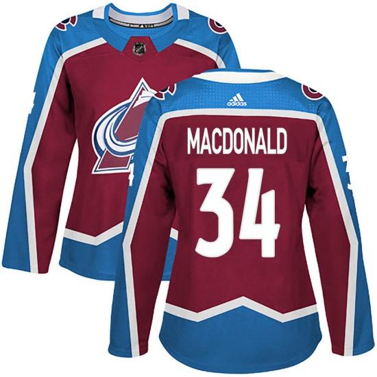 Adidas Women's Jacob MacDonald Colorado Avalanche Women's Authentic Burgundy Home Jersey