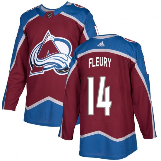 online store 0f606 6884a Adidas Youth Theoren Fleury Colorado Avalanche Youth Authentic Burgundy  Home Jersey