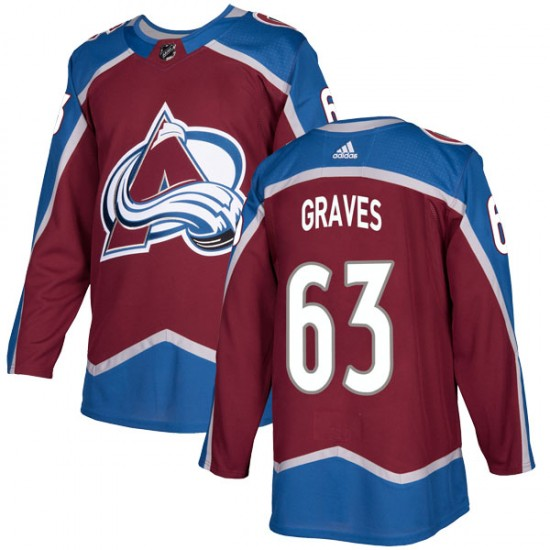 Adidas Youth Ryan Graves Colorado Avalanche Youth Authentic Burgundy Home Jersey