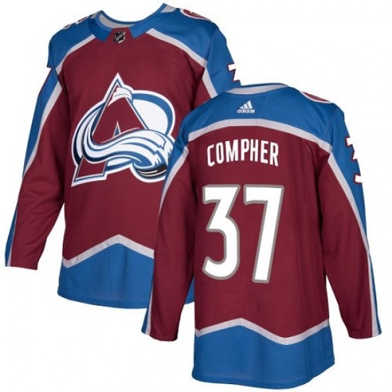 the best attitude 64fad 64609 Adidas J.t. Compher Colorado Avalanche Youth Authentic J.T. Compher  Burgundy Home Jersey - Red